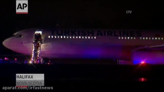 هواپیمای ترکیش بخاطر بمب گذاری فرود اضطراری کرد