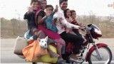 موتور سواری خانوادگی با کل زندگی