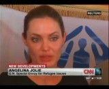 آنجلینا جولی در میان پناهندگان سوری