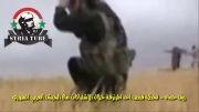 سوریه-لحظه کشته شدن یکی از نیروهای ارتش آزاد