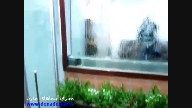 آبشار دیواری - آبنمای خانگی - پرده آب - آبنما مدرن