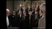 عکس یادگاری محمود احمدی نژاد همراه با وزیران کابینه اش با مقام معظم رهبری