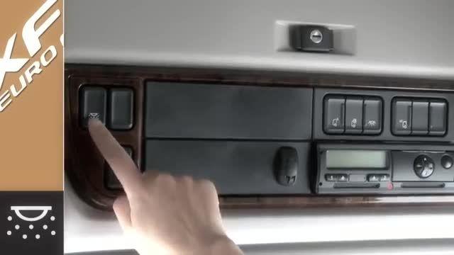 معرفی امکانات بالای سر راننده کامیون داف xf یورو 6