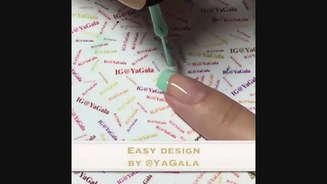 طراحی ساده ی ناخن