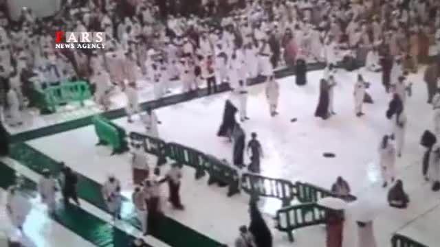 تازه ترین ویدئو از لحظه سقوط جرثقیل بر روی زائران
