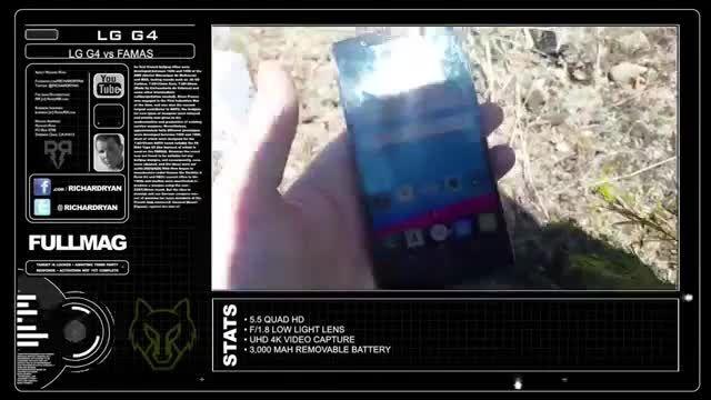 تلفن هوشمند G4 ال جی هدف گلوله