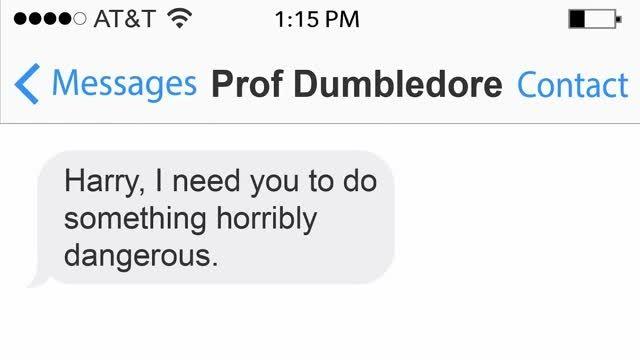 فرض کنید شخصیت های هری پاتر بهم پیامک بزنند!