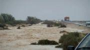 جاری شدن سیلاب در مهرگان