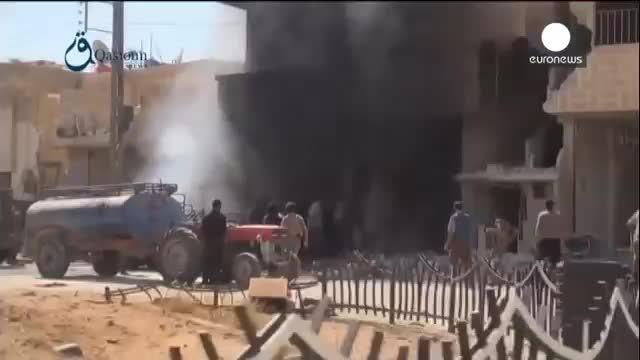 روسیه و انفجار مرکز فرماندهی و انبار مهمات داعش-سوریه