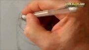 نقاشی سه بعدی - بطری رد بول معلق در هوا