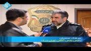 تعقیب و گریز واقعی نیروی انتظامی به دنبال یک سارق مسلح