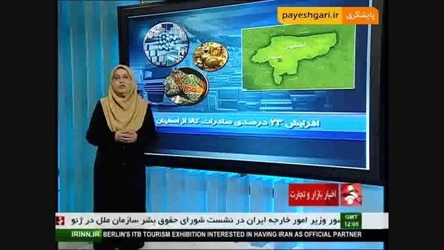 افزایش صادرات کالا از اصفهان