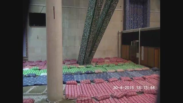 سلیقه عالی خواهران اعتکاف در چینش فضای بخش خواهران مسجد