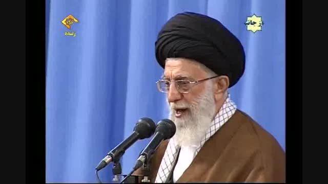 امام خامنه ای:مراقب باشیم حنجره ما بلندگوی دشمنان اسلام