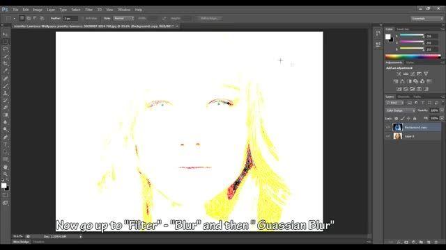 آموزش فتوشاپ 8 - تبدیل تصاویر به نقاشی مدادی