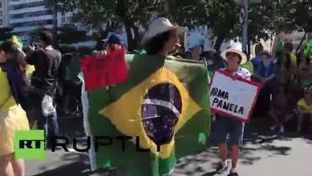 تظاهرات گسترده ضد دولتی در برزیل