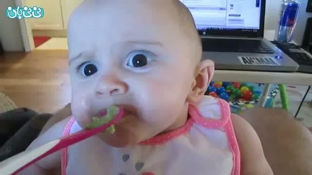 واکنش نوزاد پس از خوردن آووکادو