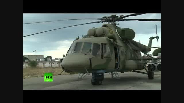 استفاده از هلیکوپترهای روسیه علیه داعش در سوریه