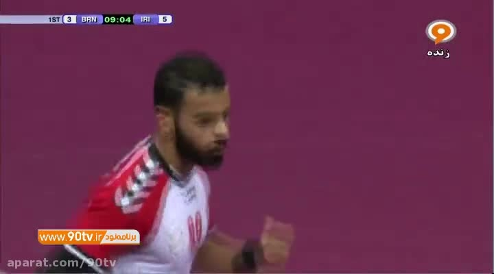 نیمه نهایی هندبال انتخابی المپیک: ایران ۳۵-۳۰ بحرین