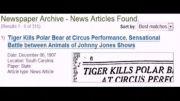 روزنامه دیگری که کشته شدن خرس قطبی توسط ببر را تایید کر