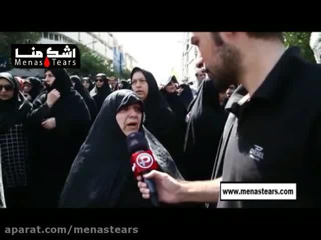 بدرقه باشكوه هزاران ایرانی از حجاج شهید شده درحادثه منا