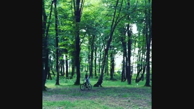 دوچرخه سواری مریم معصومی