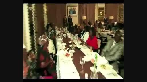 ضیافت شام اوباما با اقوام خود در کنیا