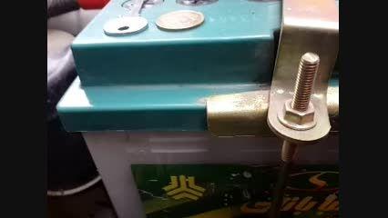 آموزش چک و اضافه کردن آب باتری پراید (باتری اسیدی)