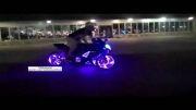 سیستم زیبای روشنایی موتور
