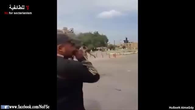 شادی نیروهای مردمی از شکست داعش در مرکز تکریت