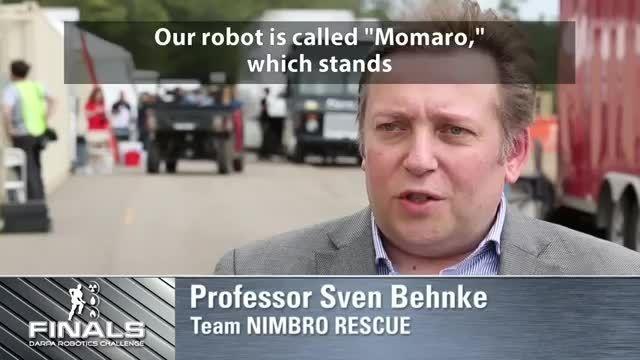 تیم Nimbro در مسابقات رباتیک دارپا