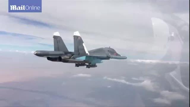 لحظه کوتاهی از بمباران داعش توسط سوخوی 34 HD