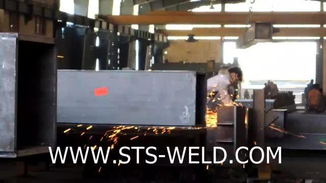خط تولید سازه فلزی در کارگاه ساخت سازه های فلزی