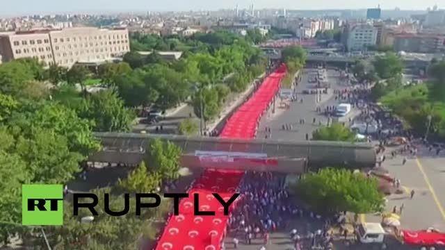 تظاهرات مردم ترکیه در حمایت از وحدت ملی