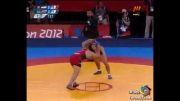 پیروزی رضا یزدانی در مسابقه اول(المپیک)