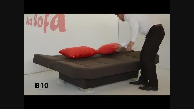 مبل آرا کاناپه تخت خواب شو مدل  -تخت شو -B10