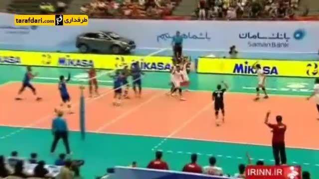 گزارش-پیروزی تیم ملی والیبال ایران برابر کویت