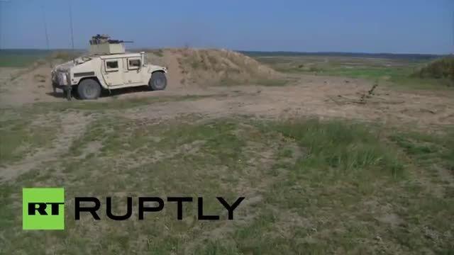 مانور نظامی ناتو در لیتوانی مقابله با روسیه جنگ اوکراین
