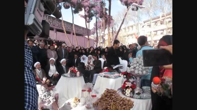 مراسم ازدواج دانشجویی کنار مسجد دانشگاه تهران
