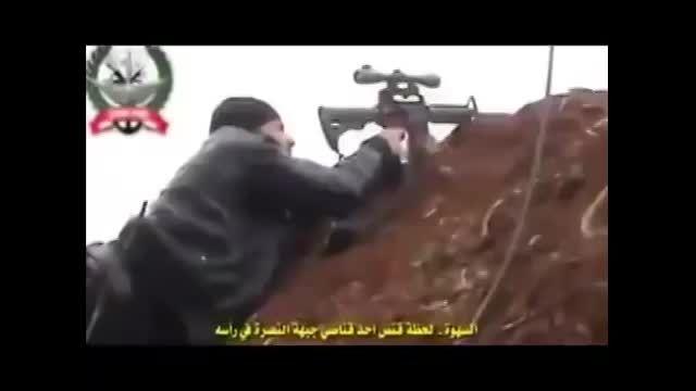 کشته شدن داعش به دست تک تیرانداز کرد-ypg