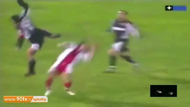 فن دردناک گردن شکن در فوتبال !!!