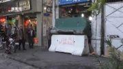 شیوه مرگبار پلمب مغازه ها توسط شهرداری