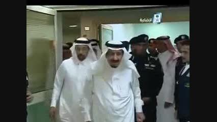 عیادت پادشاه عربستان از حاجی زخمی ایران در مکه