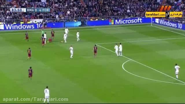 صحنه اخراج ایسکو از بازی (رئال مادرید - بارسلونا)