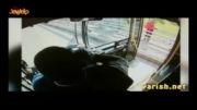 نجات دختر جوان از خودکشی توسط راننده اتوبوس