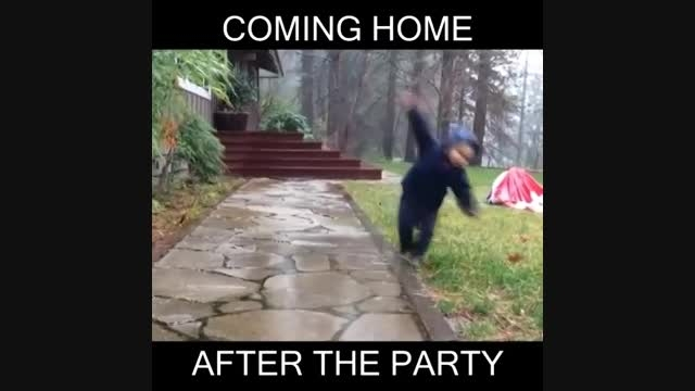 صحنه بازگشت از پارتی به خونه خخخخخخخخخ