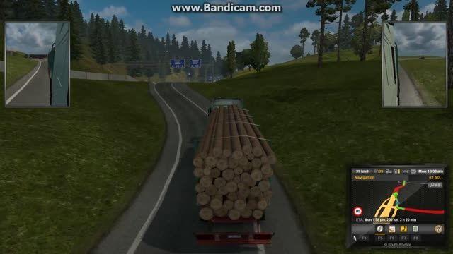 گیم پلی کوتاه از بازی euro truck simulator 2