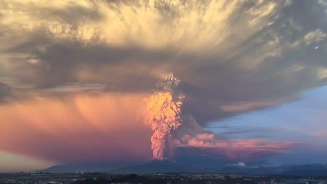 فوران آتشفشان Calbuco در شیلی