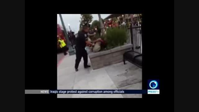 رفتار خشونت آمیز پلیس آمریکا با نوجوان سیاهپوست