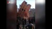 ریزش ساختمان هشت طبقه در مصر